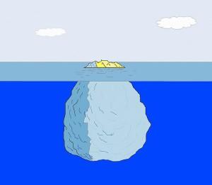 意志は氷山の一角、意識は氷山の隠れた部分・大阪のヒプノセラピーはIndigo Blue